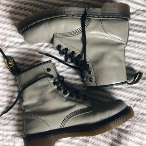 """Grey Dr. Martens 1460 Boot """"Broken In"""""""
